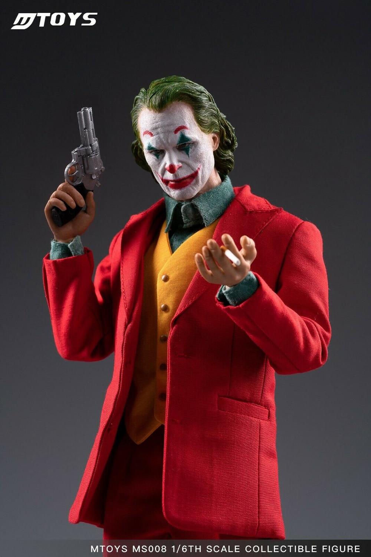 MTOYS 1//6 MS008 Joker Joaquin Phoenix Male Figure Makeup Head Version Doll Toy