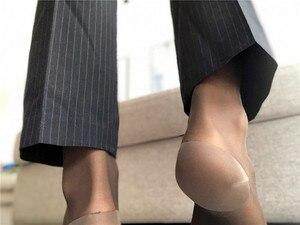 Image 3 - Шелковые носки, прозрачные тонкие, сексуальные, мягкие, формальные, парадные, шелковые носки для геев