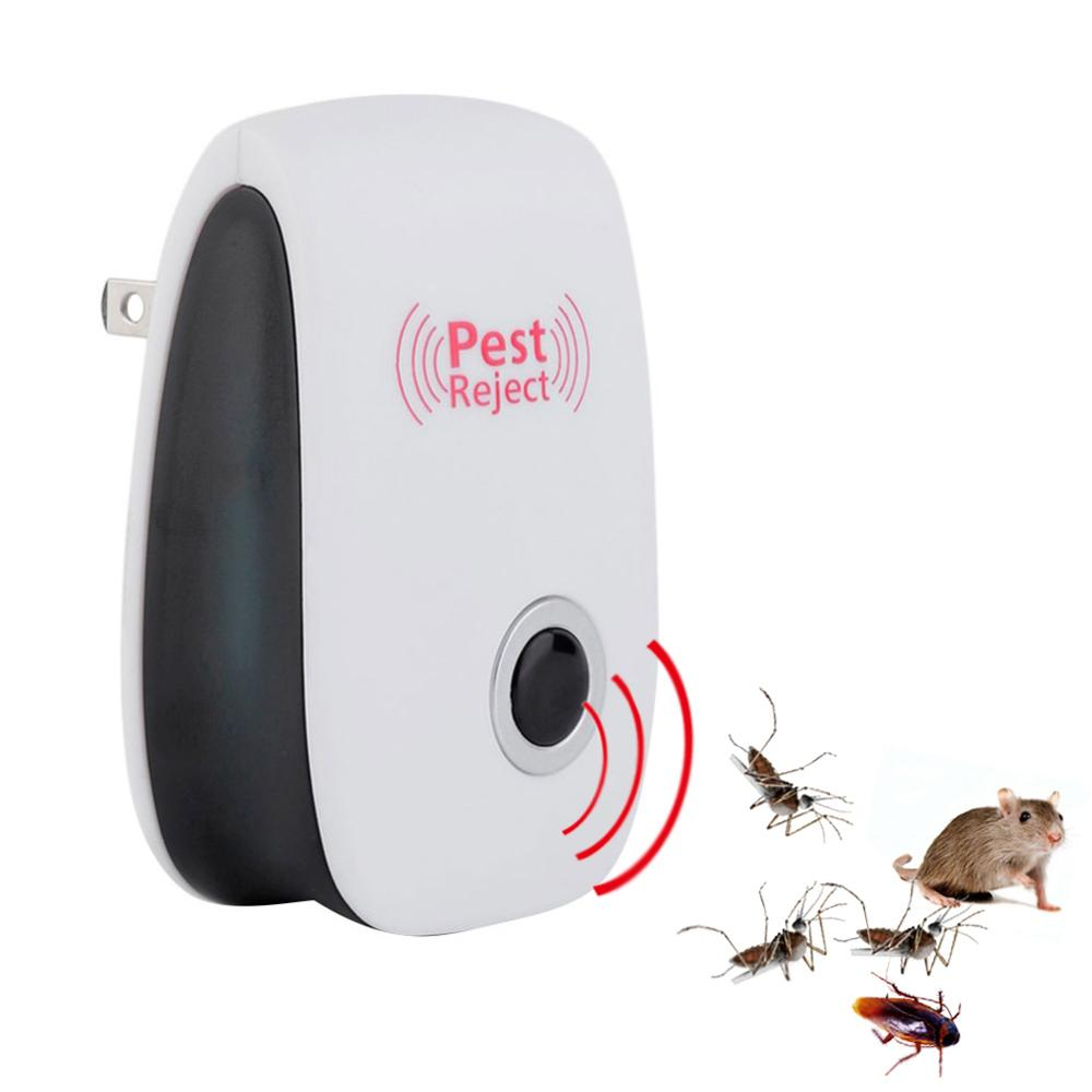 6pcs Ultrasonic Pest Repeller Indoor Electronic Pest Control Repellent White For Mosquito Rats Bugs Spiders Cockroaches