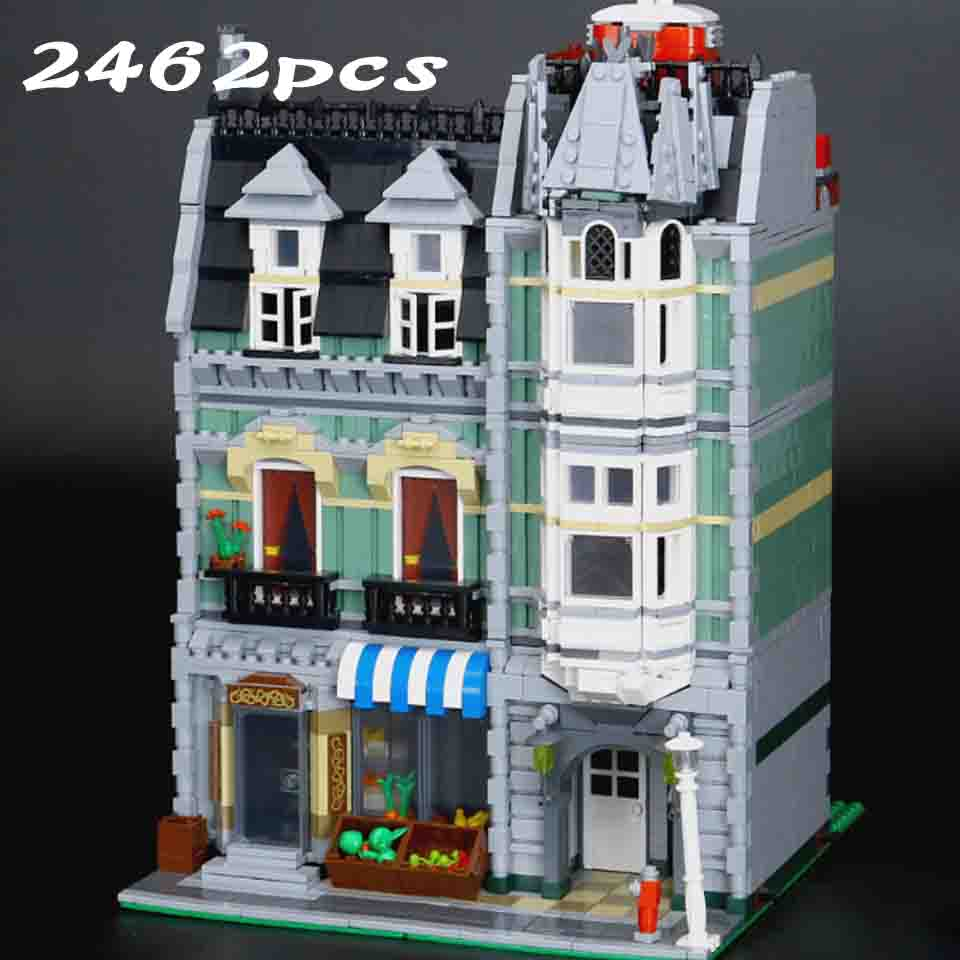 City Street Building <font><b>15008</b></font> compatible with legoinglys 10185 Green <font><b>Grocer</b></font> Model Building Kits Blocks Bricks Educational toy image