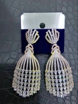 DAZZ Luxury Fashion Cubic Zirconia Earrings.