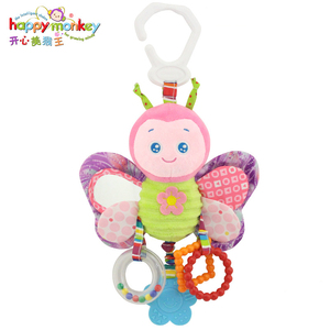 Image 2 - Happy Monkey baby bed bell neonatal  toys with BB  plush toy for   hanging  cartoon animal WJ459