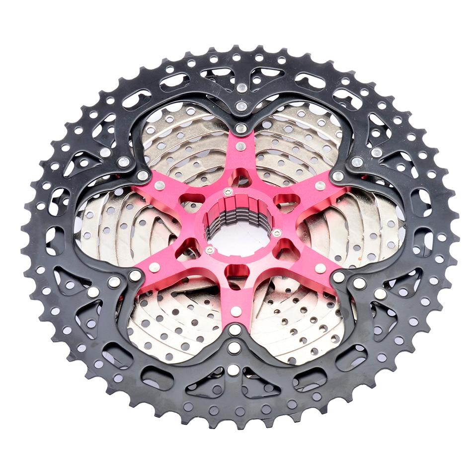 SUNSHINE vtt Cassette 8/9/10/11/12 vitesse 32/36/40/42/46/50/52T vélo de montagne roue libre pignon de vélo pour Shimano/SRAM