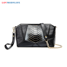 Small Womens Messenger Bags Handbags Designer Serpentine Luxury Woman Shoulder Patchwork Chain Genuine Leather 2020 New
