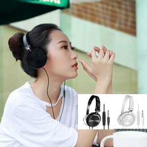 Image 2 - Wired Headphones With Microphone Over Ear Gaming Headset Bass Deep Sound HiFi Music Stereo Headphone Handsfree For Xiaomi PC PS4
