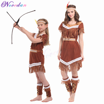 Indian Princess Halloween Costumes For Women Adult Kids Girls Pocahontas Cosplay Costume Party Fancy Dress virginia watson princess pocahontas
