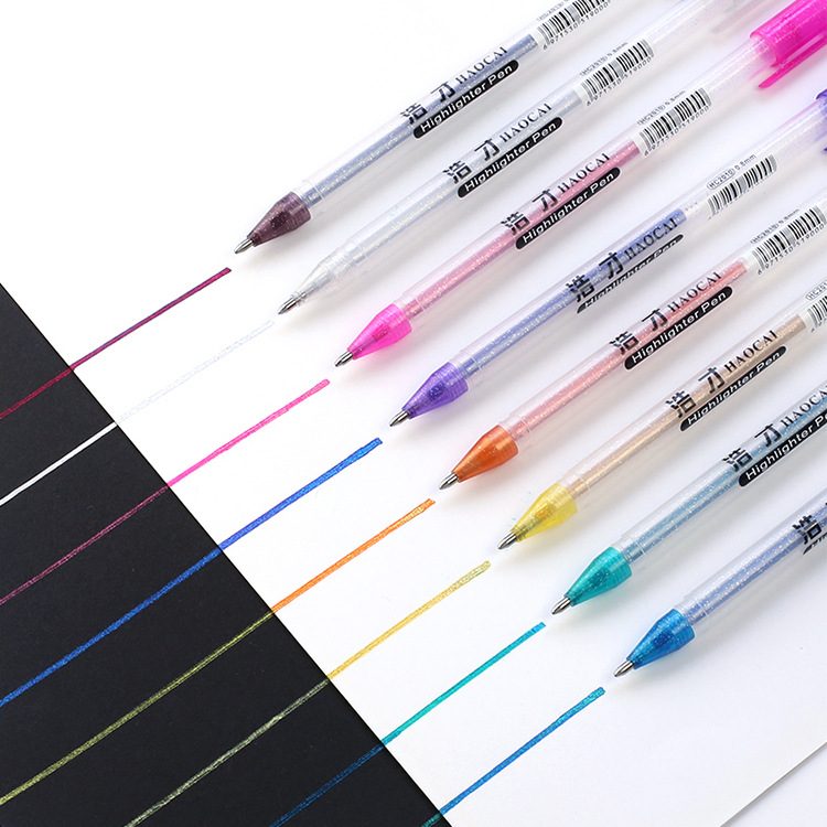 Flash Gel Pen. Painting Color Neutral Fluorescent Pen, Magic Two Watercolor Pen