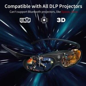 Image 5 - 2 pièces obturateur actif 96 144HZ Rechargeable lunettes 3D pour BenQ Acer X118H P1502 X1123H H6517ABD Optoma JmGo V8 XGIMI projecteur
