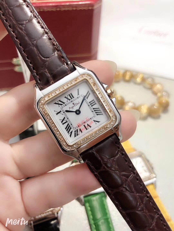 Nouveau hommes femmes FamousJapan Quartz noir blanc gris saphir argent diamants lunette carré montre dame Rome cadran Santos montres