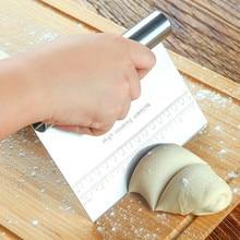 Нержавеющая сталь хлеб скребок Кухня посуда 15*12 см вырезать тесто Ножи инструменты для выпечки торта Пособия по кулинарии миксер для теста скребок для выпечки инструменты для украшения