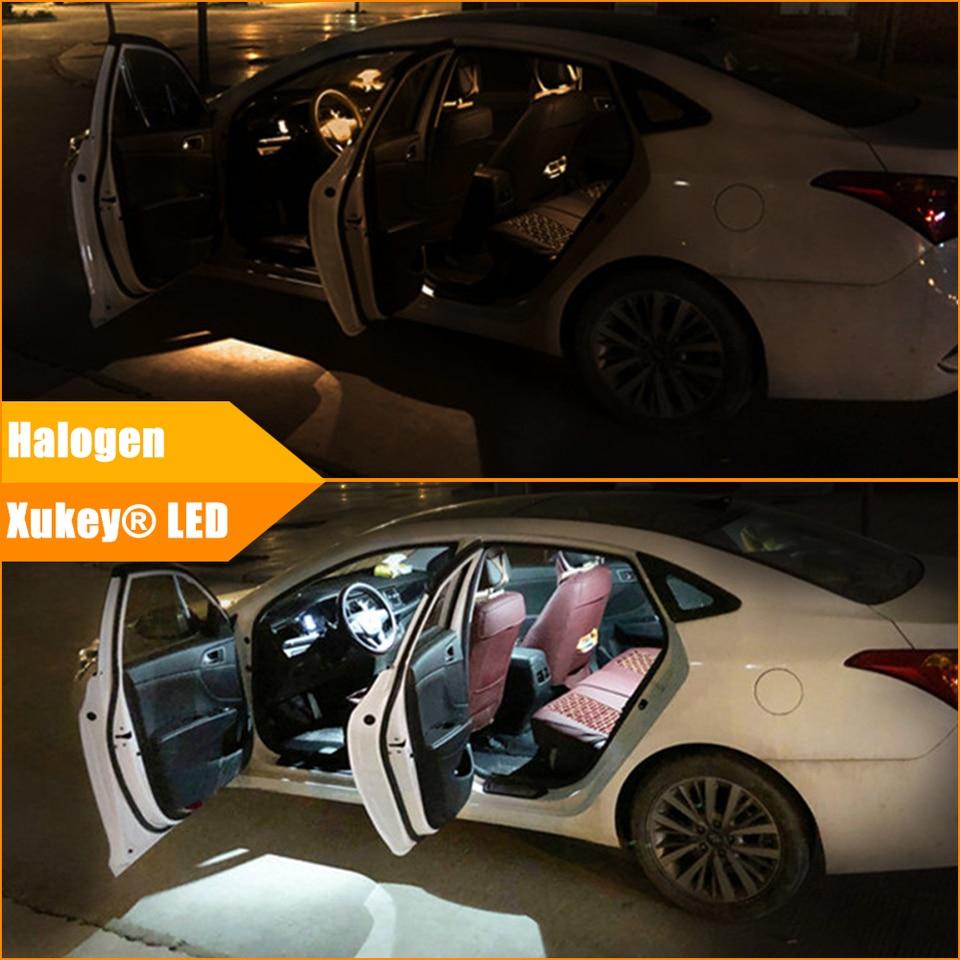 Xukey 22pcs For E39 520i 523i 528i 525d 1995-2003 Auto Interior Cabin LED Light Kit License Plate Festoon Dome Reading Bulbs