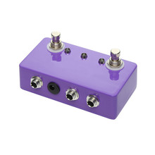 New Purple Blank Aluminum Pedal Guitarra Ture Bypass Handmade ABY Guitar Pedals Effects For Music Lover aby seletor combiner footswich ab box pedal guitar true bypass pedal