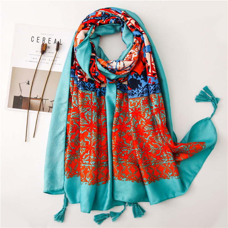 Sunscreen Shawl Women's Summer National Style Tour Scarves Beach Towel Air Conditioning Room Large Soft  Wraps Scarf