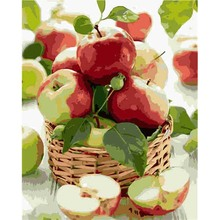 Red Apples Still Life Pictures By Numbers Oil Painting On Canvas Handmade Art Wall For Living Room