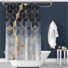 Скандинавская занавеска для душа цветные шторы с геометрическим