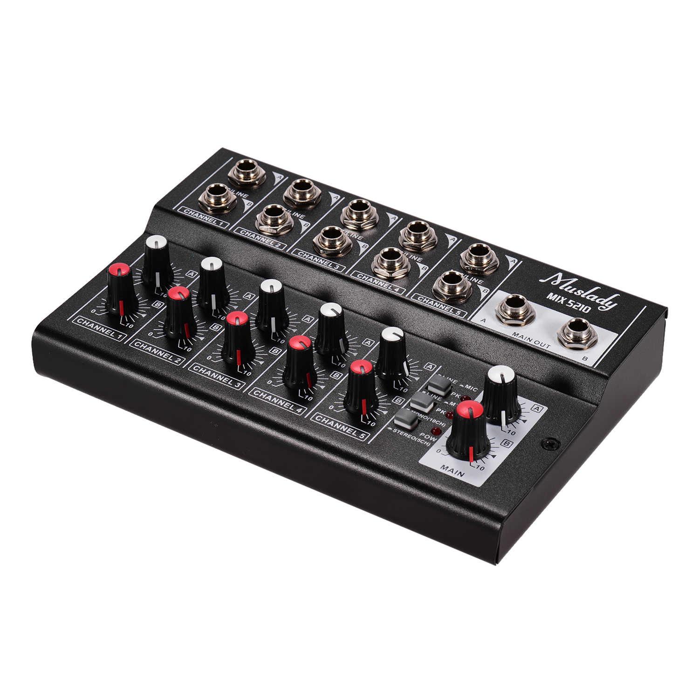 Portable Audio Mixer US plug Microphone Amplifier Console Suitable for Karaoke 10‑Channel Stereo Audio Sound Mixer Webcast Music Recording