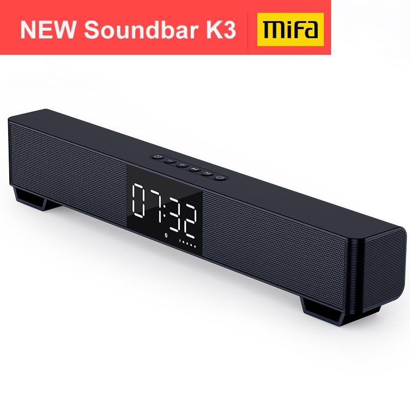 Mifa soundbar k3 bluetooth alto-falante 2 som estéreo grande display digital sem fio bluetooth 5.0 suporte tws