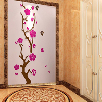 New 3D Removable Flowers tree Arcylic Wall Sticker Decal Home DIY Art living room kids bedroom Kitchen Decoration Wallpaper