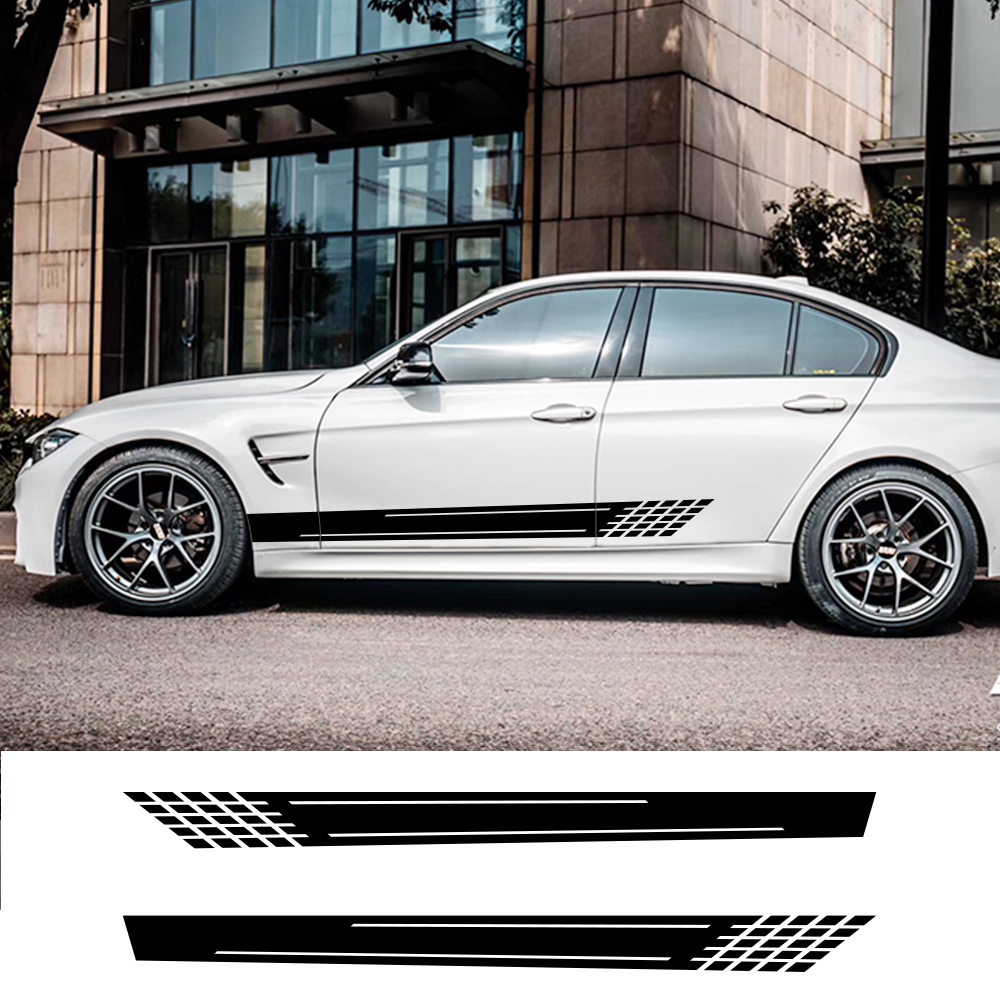 Car Sticker Auto Side Stripe DIY Decal For Audi Volkswagen VW Ford BMW Toyota Peugeot Mercedes  Renault Tuning Car Accessories