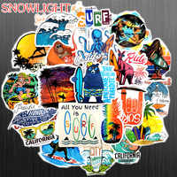 50 PCS Funny Surfing Sticker Beach Travel Graffiti Surf Stickers DIY For Surfboard Laptop Luggage Bicycle Tablet Water Bottle