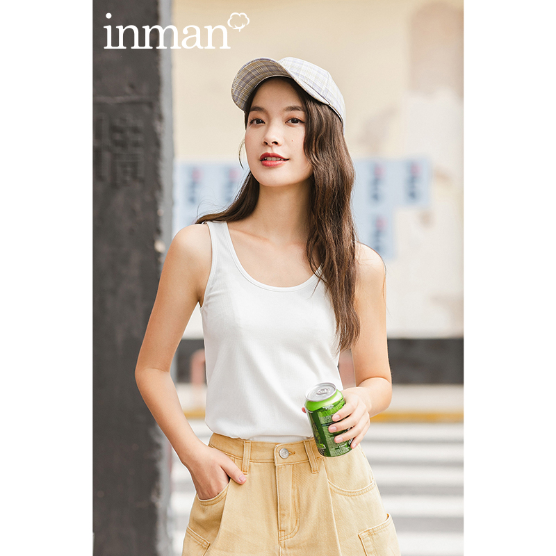 INMAN 2020 Summer New Arrival Pure Color Inner Cool And Refreshing Sleeveless Base Tank Tops