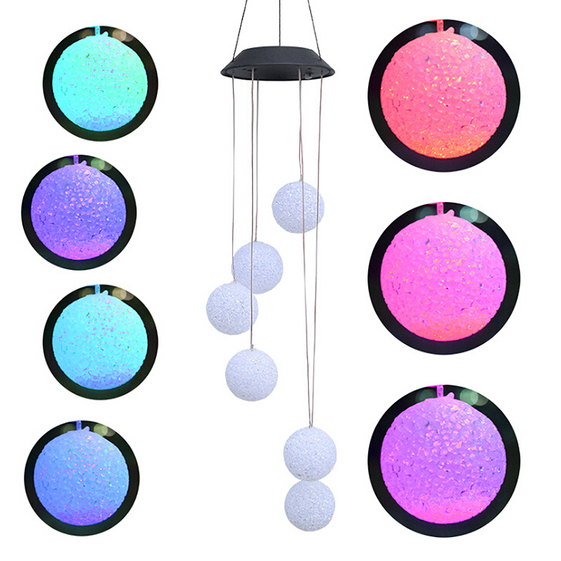 Wind Chime Solar Lights Hanging Ball Outdoor Garden Landscape Light For Home Garden Park New