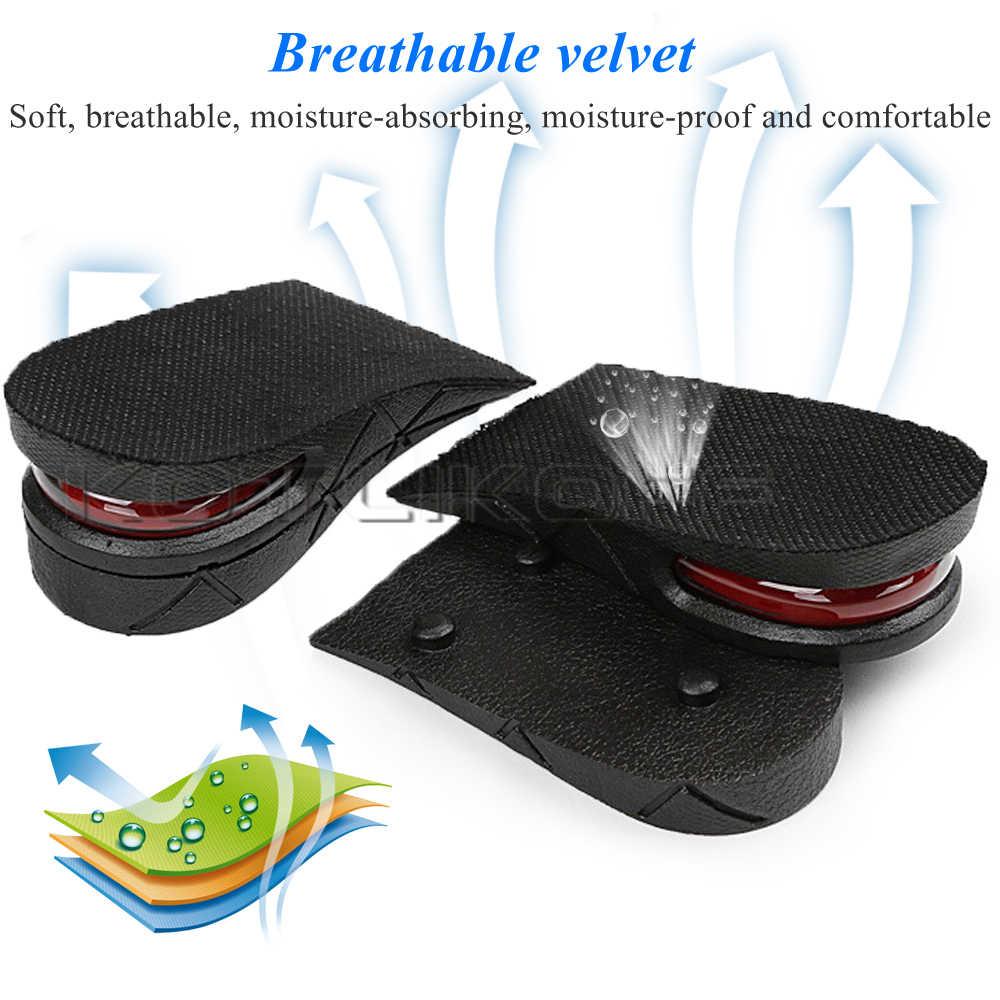 KOTLIKOFF görünmez boy uzatan ayakkabı astarı ayarlanabilir 2 katmanlı 3CM/4.5CM hava yastığı pedleri asansör tabanı tabanlık ekler ayakkabı