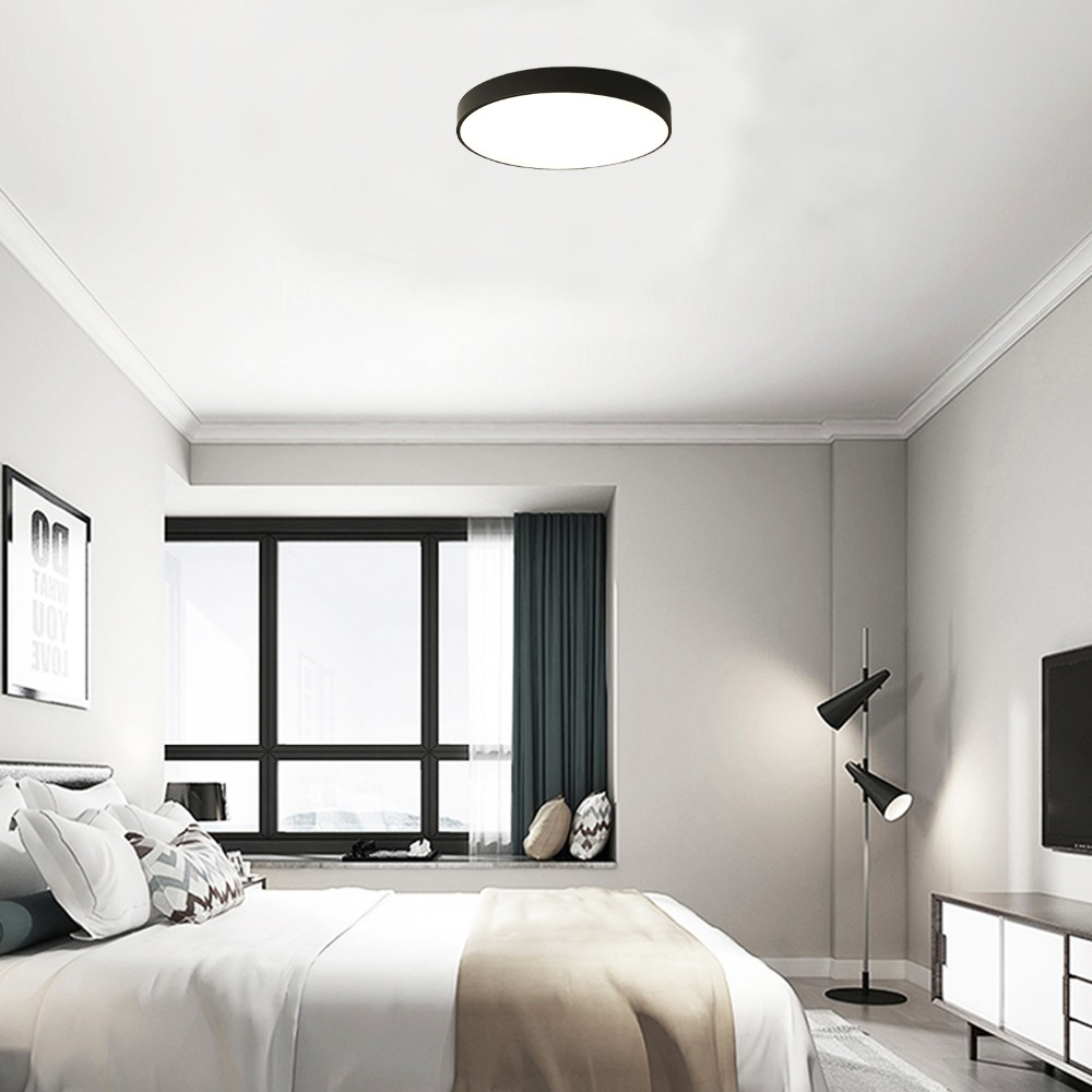 8//12W Round LED Ceiling Down Light Flush Mount Home Kitchen Bedroom Fixture Lamp