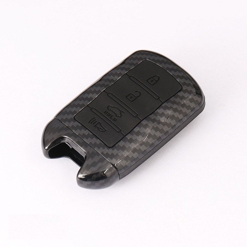 Carbon fiber ABS Car key case cover key shell Holder For KIA K9 Cadenza K7 3 4 button Smart Remote Key