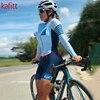 Cafete novo terno de ciclismo triathlon profissional das mulheres corrida equipe jérsei macacão manga longa apertado ciclismo terno 1