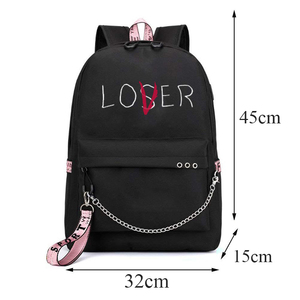Image 3 - BPZMD Lover Loser Large School Bags for Teenage Girls Usb Charging Backpack Women Book Bag Big High School Bag Youth Leisure Col