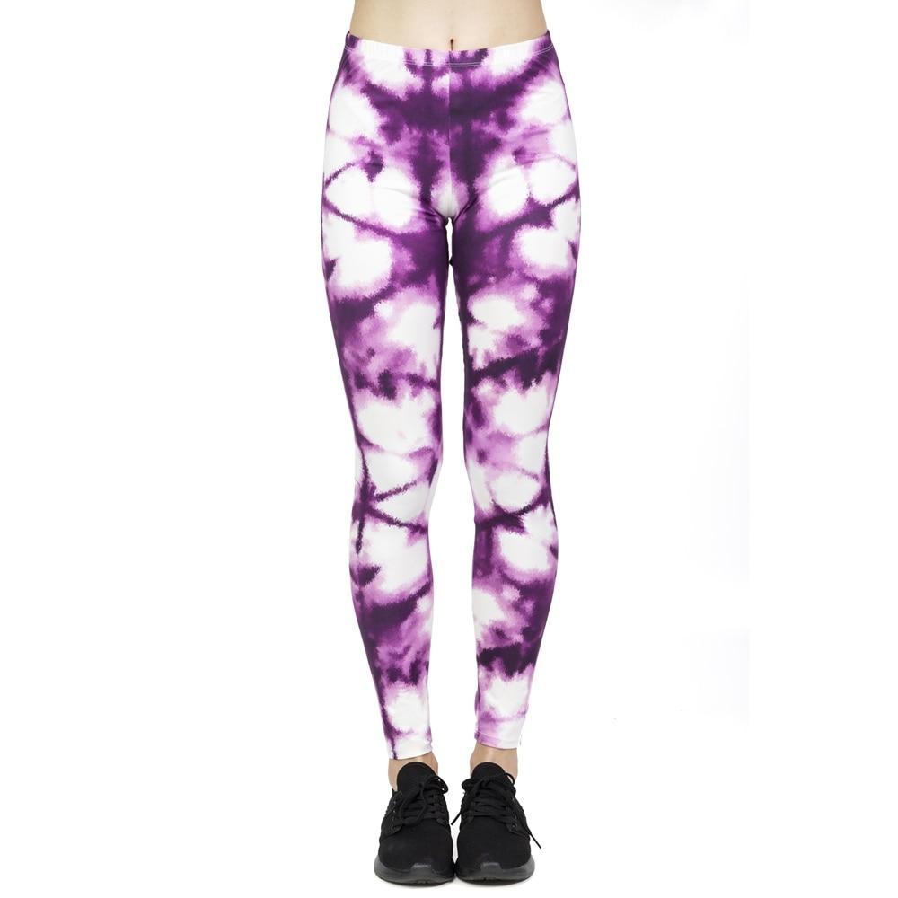 Hot Sales Women Fashion Leggings High Elasticity Legins Workout Jogging Pants Purple Printing Sport Leggins