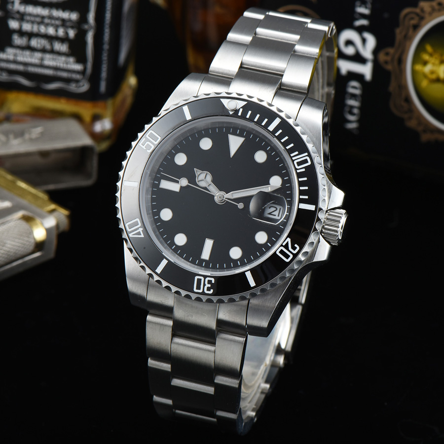 watch men automatic mechanical watch Luminous waterproof date 316L Solid stainless steel 40MM LLS1