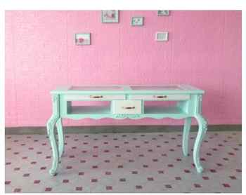 American manicure table and chair set single double three person manicure table glass economy manicure shop manicure table