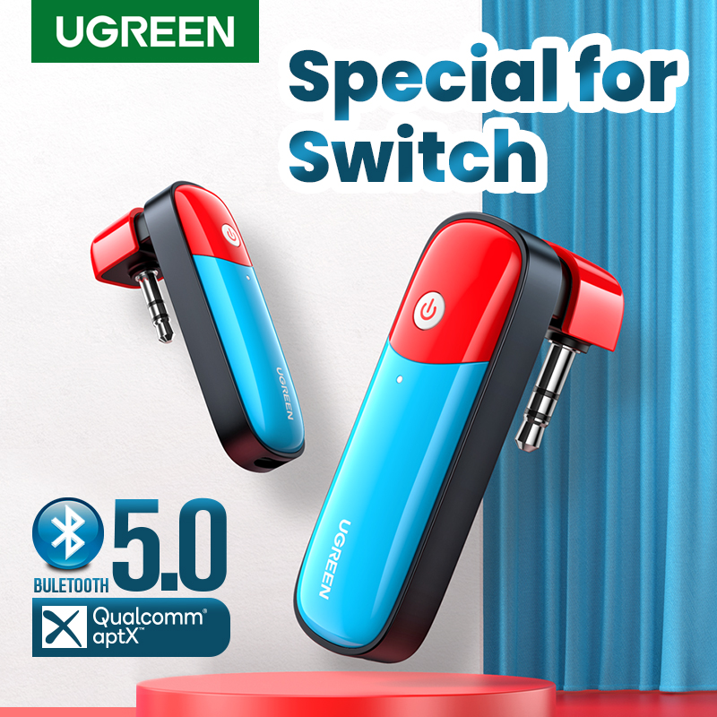 Bluetooth 5,0 передатчик UGREEN, 3,5 мм, дизайн аудио-адаптера для беспроводного передатчика Nintendo Switch APTX LL