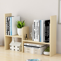 Simple Desktop Bookshelf Small Table Rack Wood Storage Organizer Display Shelf Counter Top Bookcase for Office Study
