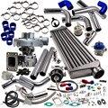 T3 T4 T04E Универсальный комплект турбонагнетателя Stage III + мусорный отсек + интеркулер + трубы комплект для Nissan Patrol Y60 Y61 Нагнетатель
