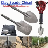 Jackhammer Breaker Clay Spade Cutter Chisel Extra Wide Square Tipped Jack Hammer