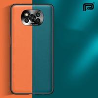 Funda de lujo para Xiaomi POCO X3 NFC Pro, carcasa trasera de cuero duro para cámara de Metal, para Pocophone M3 Mi 10 Ultra Mi 10 Pro