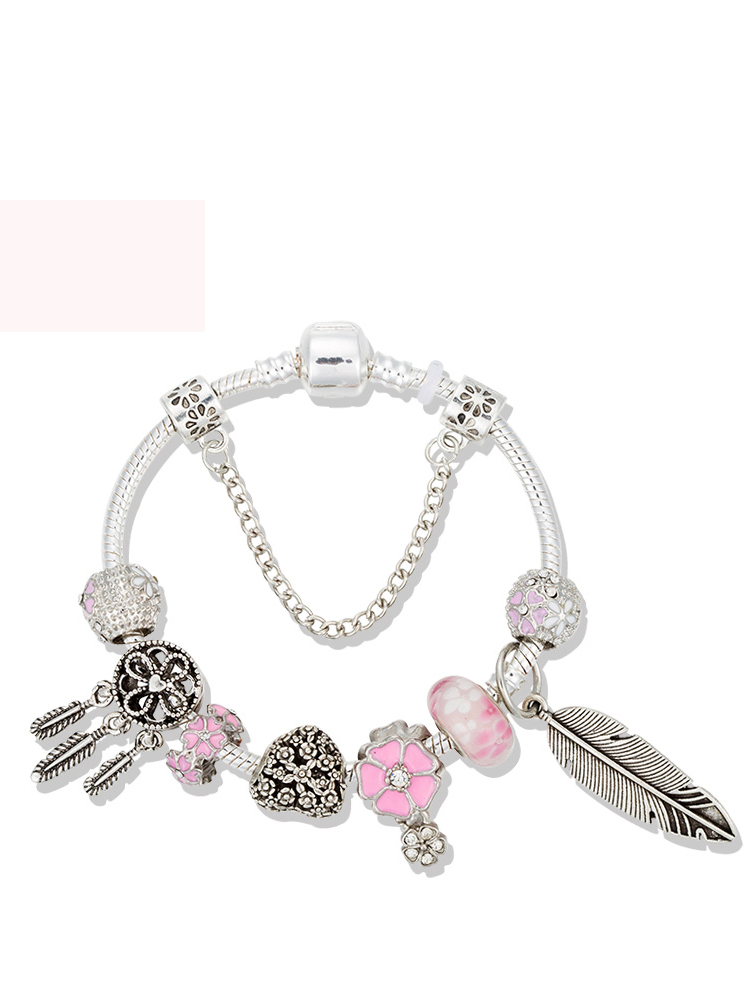 Bracelet Jewelry Catcher Pink Crystal Women VIOVIA for Dream B19033 New-Arrivals