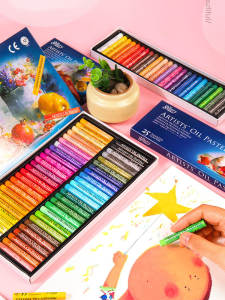 Oil-Pastel Crayon-Set Stationery Drawing-Pen Art-Supplies Soft Student School 48-Colors
