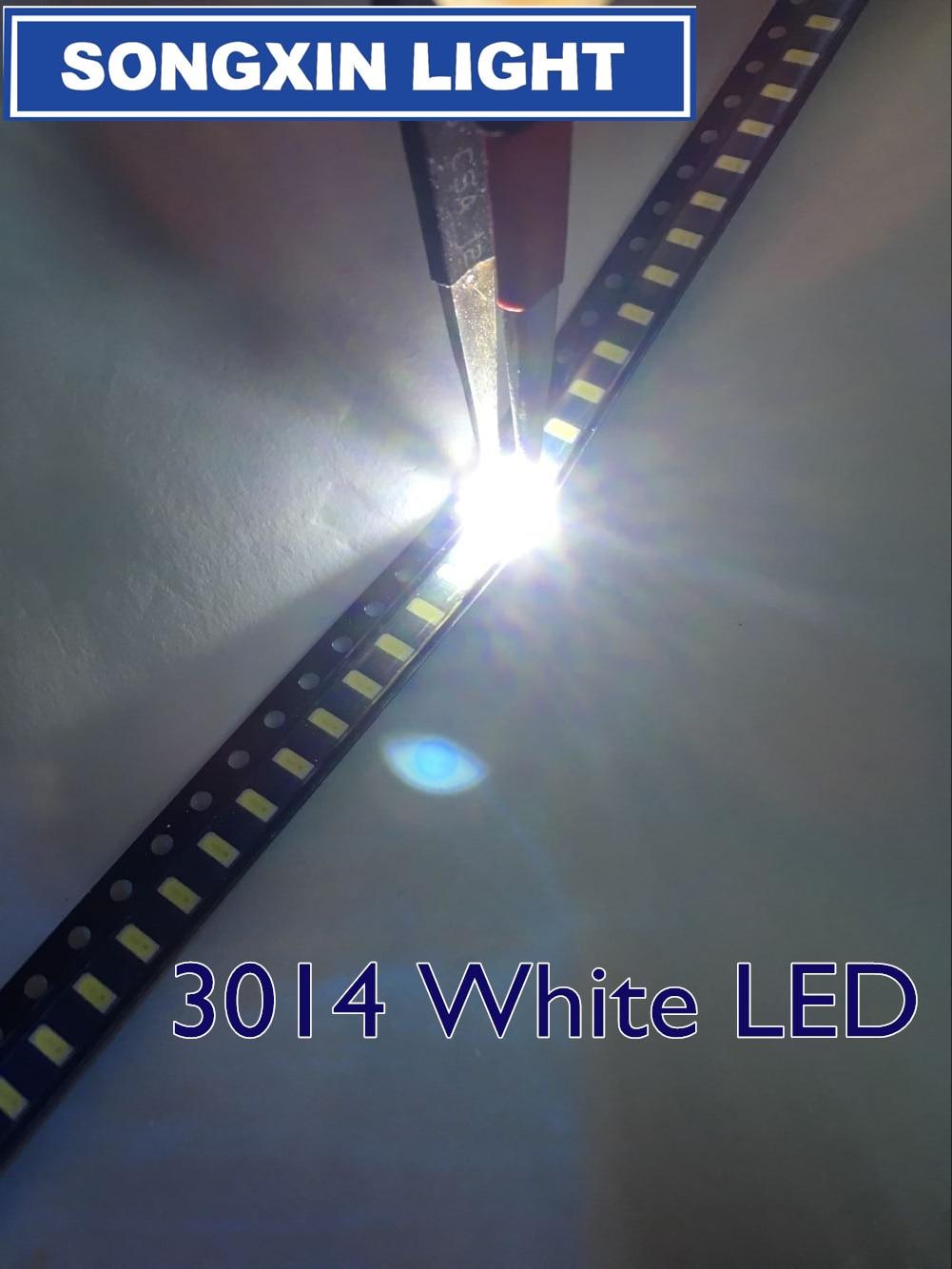 100 pces smd 3014 led 0.1 w 10-12lm 6000-6500 k branco 3014 smd led grânulos 3014 diodos cw