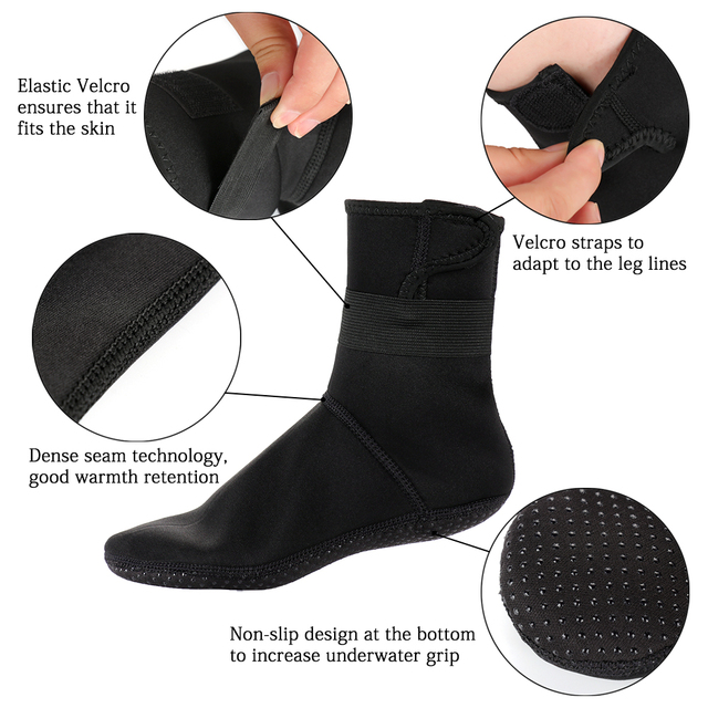 3mm Neoprene Diving Socks Non-slip Beach Boots Wetsuit Shoes Snorkeling Diving Surfing  2