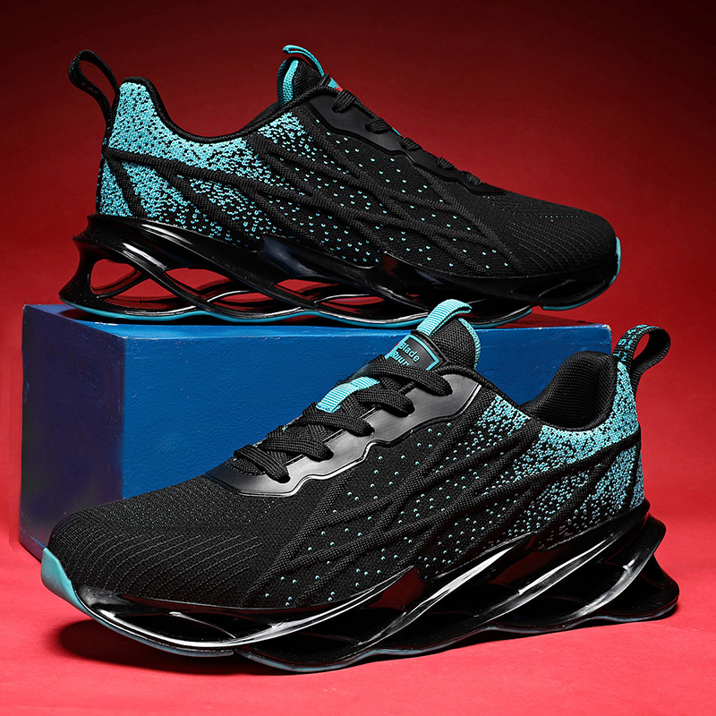 MEN'S SHOES Blade Mesh Shoes Running Shoes Men's Cross Male Sneakers Plus Size 46 Running Shoes Fashion Athletic Shoes