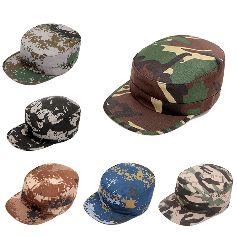 Outdoor Tactical Cap Sport Snapback Camouflage Hat Simplicity Military Army Camo Hunting Cap Hat For Men Adult Cap
