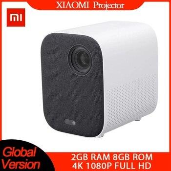 [Global Version] XIAOMI Mijia 4k Projector tv EU 3D AI 500ANSI 2+8GB Full HD 1080P 30000 LED Wifi bluetooth Bracket Theater