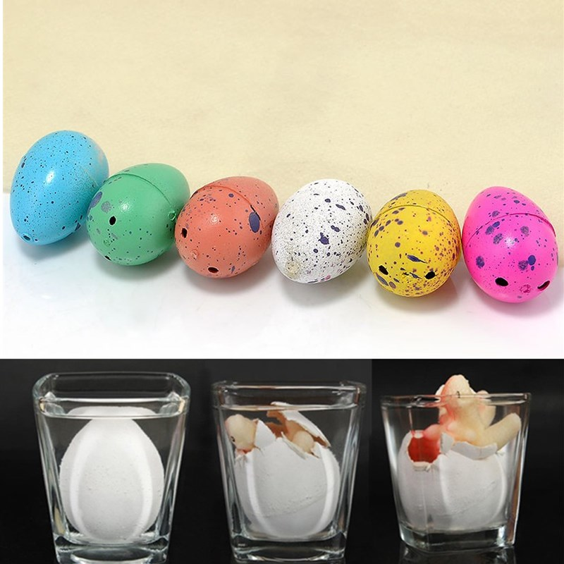 6 Pcs/Set Kids Toy Dinosaur Eggs Magic Inflatable Dinosaur Add Water Growing Dinosaur Eggs Dinosaur Egg Hatching Toy