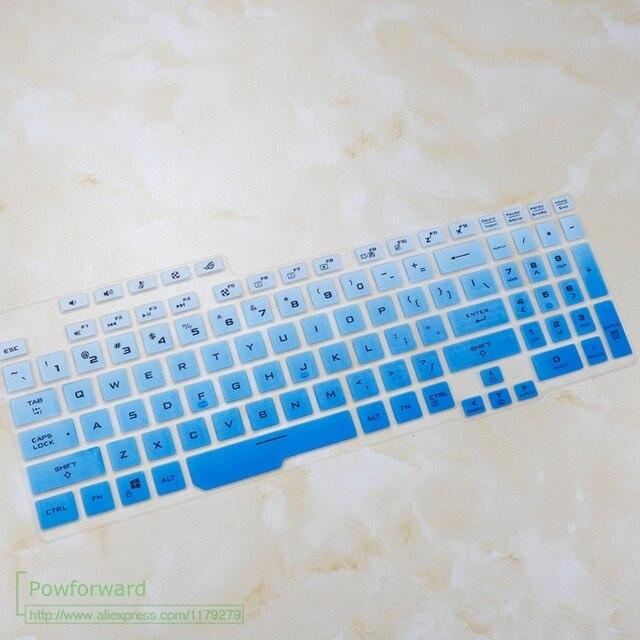 Klawiatura silikonowa pokrywa Protector skóry laptopa dla ASUS ROG Strix G G731GV G731GW G731GT G731GU G731 GW GT GU 17.3 cal