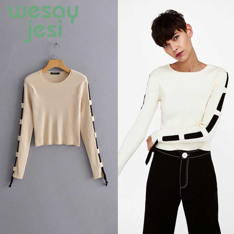 Autumn Sweater Women O-neck 2019 Long Sleeve Knitted Jumper Tricot Sweater And Pullover Female chic Pull Femme