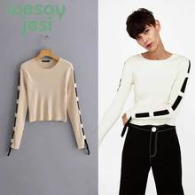 Autumn Sweater Women O-neck 2019 Long Sleeve Knitted Jumper Tricot And Pullover Female chic Pull Femme